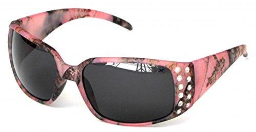 9702c16328 VertX Women s Pink Camouflage Sunglasses Rhinestone Camo - Smoke Lens
