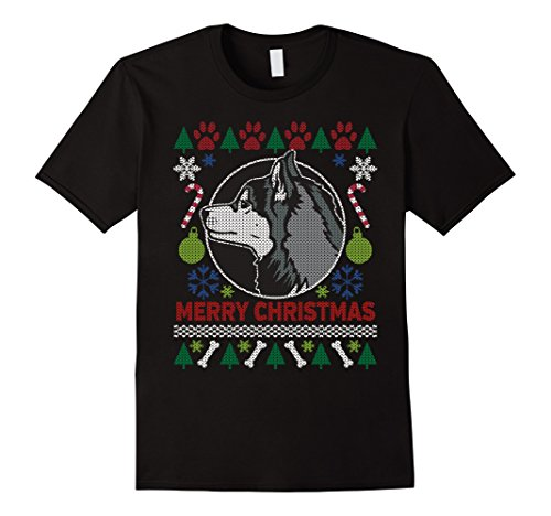 Men's Siberian Husky Dog Breed Owners Ugly Christmas T-shirt