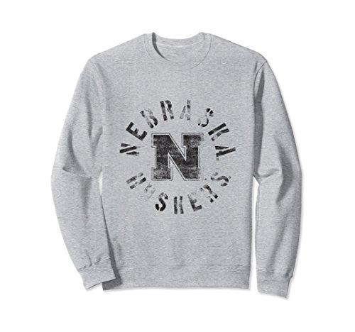Nebraska Crew Sweatshirt - Unisex Nebraska Huskers Women's NCAA Crew Neck Sweatshirt 21EC01 XL Heather Grey