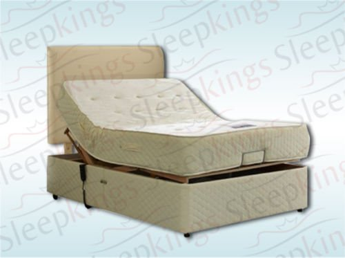 4FT6 DOUBLE ADJUSTABLE ELECTRIC BED WITH MEMORY FOAM MATTRESS