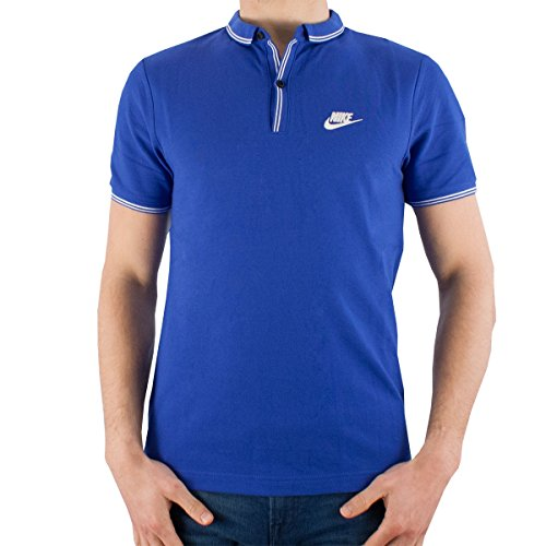 Nike Slam Dunks (Nike Mens Grand Slam Slim Fit Polo League Shirt 652446 (Small, Blue/White))