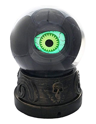 Animated Light-Up Eyeball in Crystal Ball Halloween Decoration with Sound]()