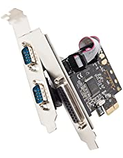 Syba SD-PEX50030 PCI-Express x1 Two Port Serial and One Port Parallel MCS9901 Chipset