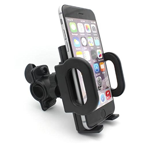 Bicycle Mount Phone Holder Handlebar Swivel Cradle Stand Dock for Cricket Samsung Galaxy Amp Prime - Cricket Samsung Galaxy Core Prime - Cricket Samsung Galaxy Grand -