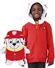 Cubcoats Marshall Paw Patrol Toy Stuffed Plushie and 2-in-1 Zip-Up Kids Hoodie
