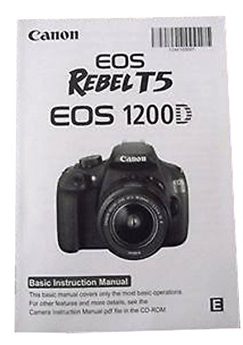 CANON EOS Rebel T5 EOS 1200D Instructions Manual Booklet