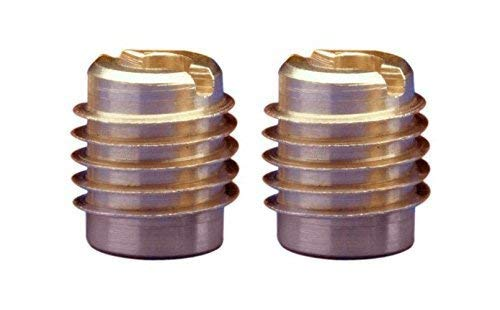 E-Z Lok Threaded Insert, Brass, Knife Thread, 1/4''-20 Internal Threads, 0.500'' Length (2-(Pack of 25))