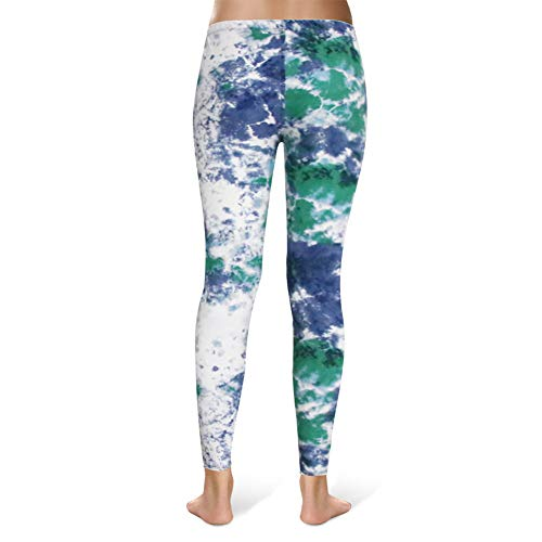 High Waisted Leggings for Women - Ultra Soft Stretchy Workout Pants – Reg/Plus Size (Ink Pattern, Plus Size (12-24)) by Syrinx (Image #2)