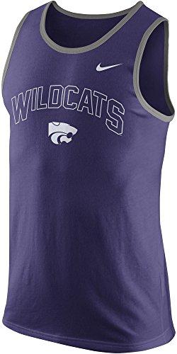 Nike Kansas State Wildcats Men's College Cotton Arch Tank Top Sleeveless Shirt (New Orchid Purple, XXL)