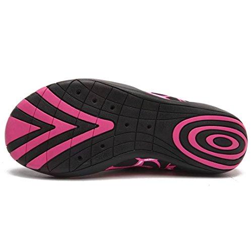 BODATU Frauen Männer Barfuß Quick-Dry Wasser Schuhe Leichte Aqua Schuhe Für Walk Surf Schwimmen Bootfahren Rosa