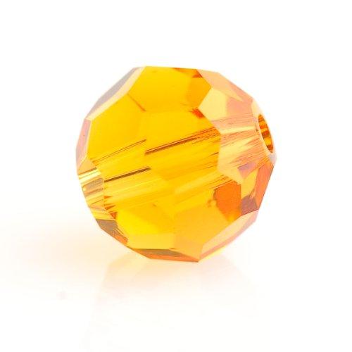 (Swarovski 6mm Topaz 5000 Round Crystal Beads - Pack Of)