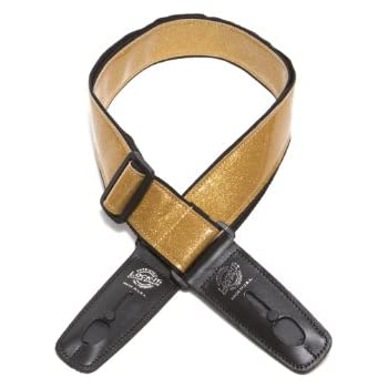 Lock-It Straps LIS-022-GL2-GOLD Guitar Strap