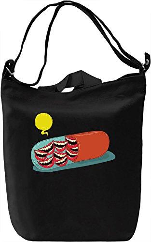 Smile pill Borsa Giornaliera Canvas Canvas Day Bag| 100% Premium Cotton Canvas| DTG Printing|