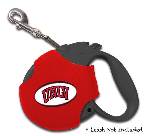 Ncaa Retractable Leash Cover (Dog Zone NCAA Retractable Leash Cover, Neoprene, Small, Red, University of Nevada, Las Vegas)