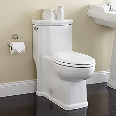 Signature Hardware Halcott 1.6 GPF Siphonic One Piece Elongated Chair Height Toilet - Seat Included