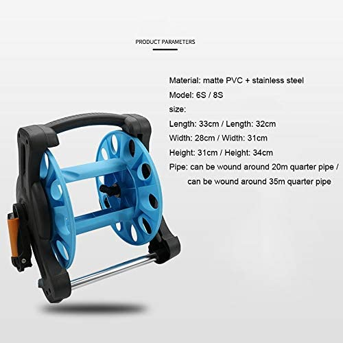 KLFD Hose Reels with Hose, Empty Cable Reel for Extension Cable Or Garden Hose Storage, Space Saving High Capacity,8s