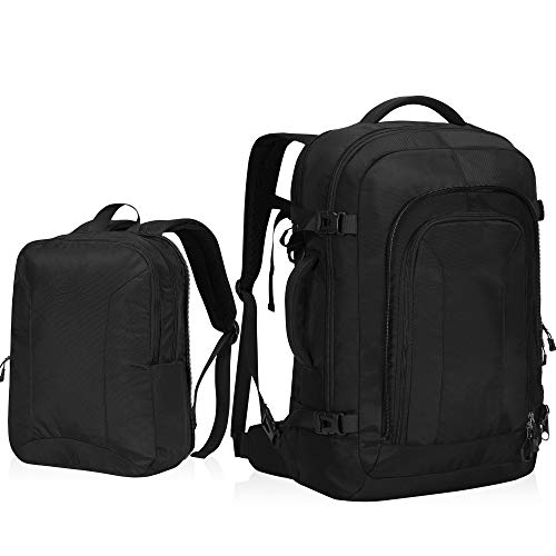 Travel Max Business Laptop Backpack with Removable Day Bag Travel Carry On Backpack Fits 17 Inch Laptop 10.5 Inch Tablet