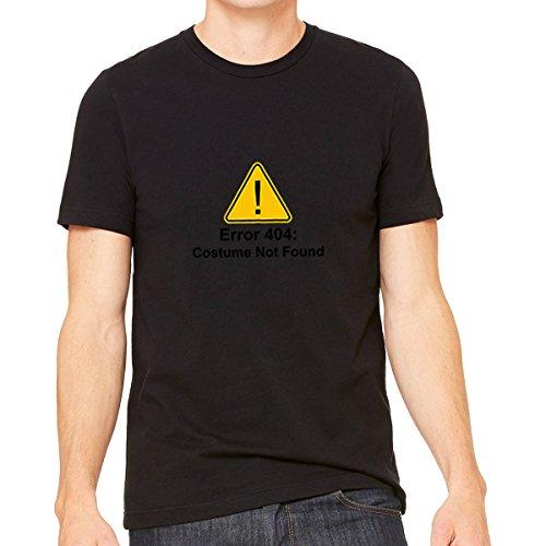 [Error 404 Halloween Costume Not Found Unisex - Tshirt (XL, Black)] (Funny Weird Halloween Costumes)