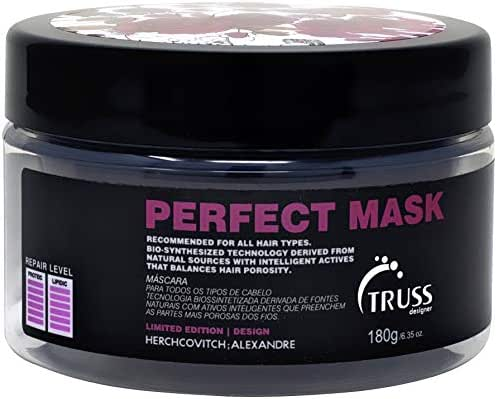 TRUSS Perfect Hair Mask with Collagen, Keratin & Hyaluronic Acid - Deep Conditioning Hair Treatment - Intense Moisture & Hydration - Repairs Fine, Thinning, Brittle, Dry Damaged Hair