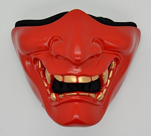 SAMURAI Mask Half Face Protection Motorcycle Biker Ski Snowboard Costume Party