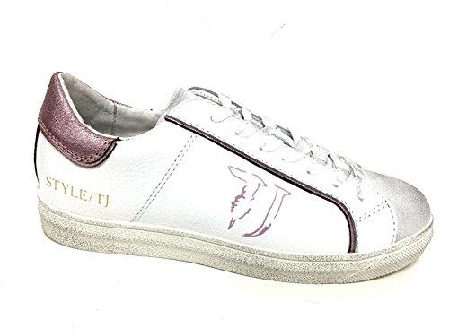 Scarpe Sneaker Ds16tj06 Crack Trussardi Donna Jeans Pink Pelle Bianca qC6zgRw