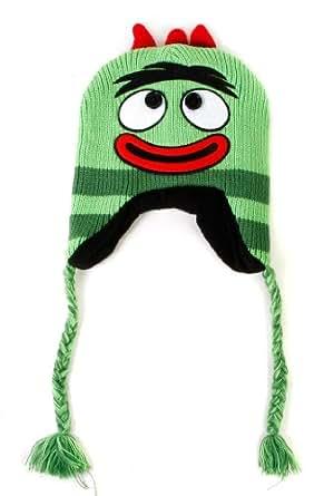 Nickelodeon Men's Yo Gabba Gabba Brobee Knit Peruvian, Green, One Size