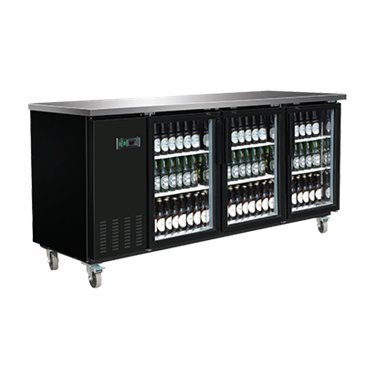 """Maxx Cold MXBB90G X-Series 90"""" Commercial Back Bar Beer Cooler Refrigerator With Two Glass Doors, Holds 1254 Cans OR 570 Bottles"""