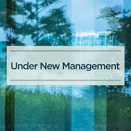 36x12 CGSignLab Basic Teal Window Cling 5-Pack Under New Management