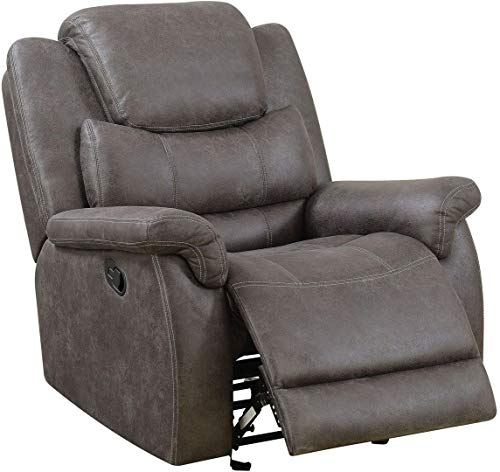 Paula Gray Manual Glider Recliner by Furniture of - Recliner Cottage Glider