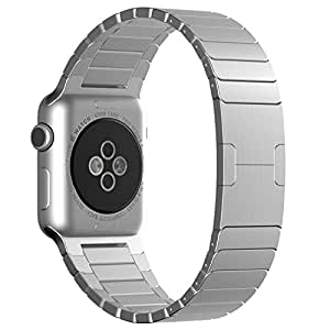 Pinhen Apple Watch Band,iwatch Band Stainless Steel Watch Strap Bracelet Replacement for Apple Watch Iwatch(stainless Steel 42mm Silver)