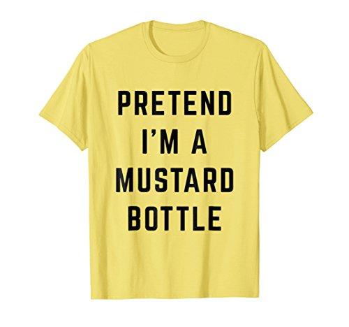 Pretend I'm a Mustard Bottle Lazy Halloween Costume -