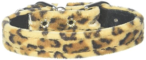 Mirage Pet Products 3/8-Inch Width Plain Animal Print Collar for Pets, 8-Inch, Leopard