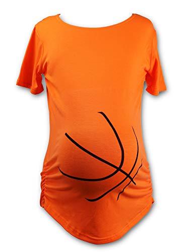Urbanifi Maternity Women Sports Basketball Volleyball Baseball Short Sleeved Shirt for Mom Fans T Shirt Apparel Tshirt Gifts Team (Basketball, Medium)