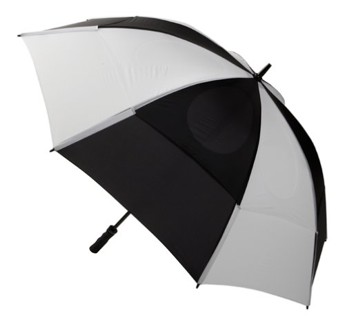 GustBuster Proseries Gold 62-Inch Style 2 Golf Umbrella (Black/White)
