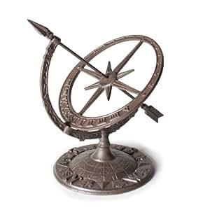 Abbott Collection Cast Iron Armillary Sundial, Brown