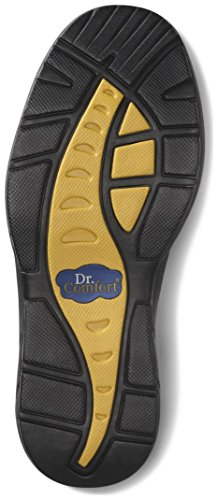 Dr. Comfort Mens Protector Stivali Neri Diabetici In Acciaio Con Punta Nera