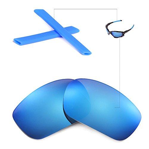 New Walleva Polarized Ice Blue Lenses And Blue Earsocks F...