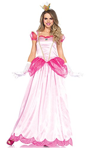 Leg Avenue Women's 2 Piece Classic Pink Princess Costume, Pink, Medium ()
