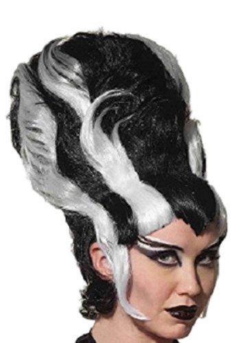 [Bride of Frankenstein Lady Monster Wig - Black and White] (Frankensteins Bride Costume)