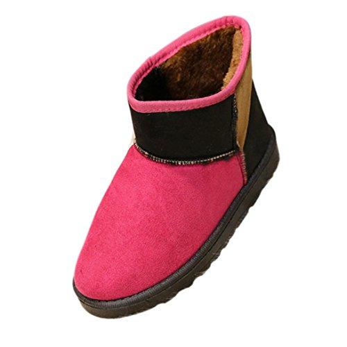 Botas Mujer,Ouneed ® Las mujeres mantienen la marta cálida botas de nieve zapatos de invierno Rosa caliente