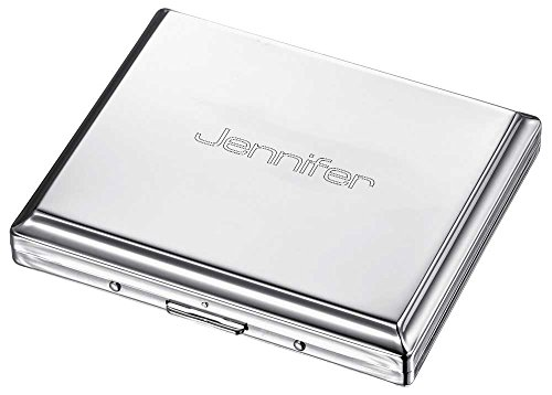 Personalized Double Sided Standard Size Cigarette Case with Free Engraving ()