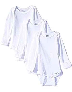 Gerber Unisex-Baby Newborn Long Sleeve Onesies and Short Sleeve Shirt Bundle (Pack of 6)