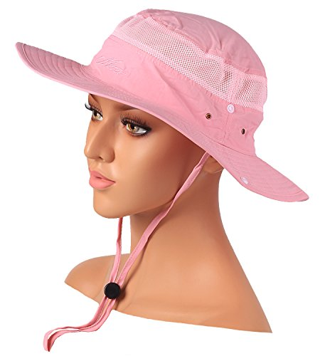 (Mazo Camping Hat Outdoor Quick-dry Hat Sun Hat Fishing Cap(Pink))