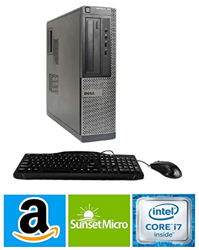 Dell Optiplex 7010 SFF Premium Flagship Business Desktop Computer (Intel Quad-Core i7-3770 3.4GHz, 8GB RAM, 240GB SSD, DVD, VGA, DisplayPort, WiFi, Windows 10 Professional) (Renewed)