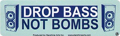 Drop Bass Not Bombs - Small Bumper Sticker / Decal (5.5