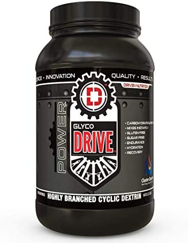 GLYCODRIVE 100 Pure Highly Branched Cyclic Cluster Dextrin Powder- Advanced Carb Replenisher Gluten, Soy, Sugar Free Improved Endurance and Stamina