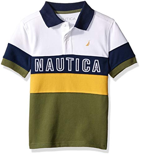 Nautica Little Boys' Short Sleeve Heritage Polo Shirt, Luther Olivine Large ()