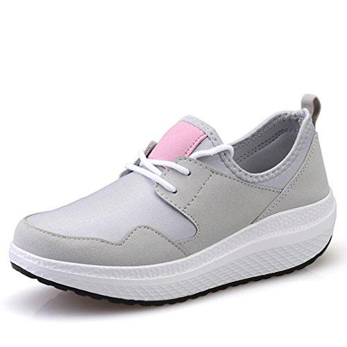 Antidérapant Fashion Plate Gris Loisir Orthoptique Chaussure Tennis Mode Basket Voyage De Marche Femme forme qPw7BfxZ