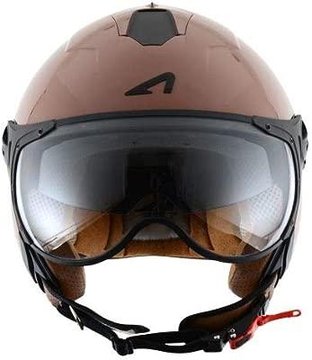 Casco de motocicleta Astone Helmets MINISPORT-COL Minijet Sport L Caf/é Brillante