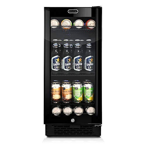Whynter BBR-801BG Built-in Black Glass 80-can Capacity 3.4 cu ft Beverage Refrigerators, One Size,